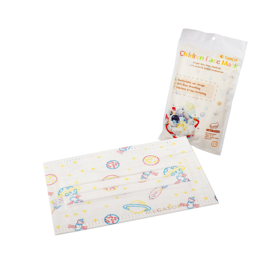 Children Face Mask - Longer Ear Straps Galaxy