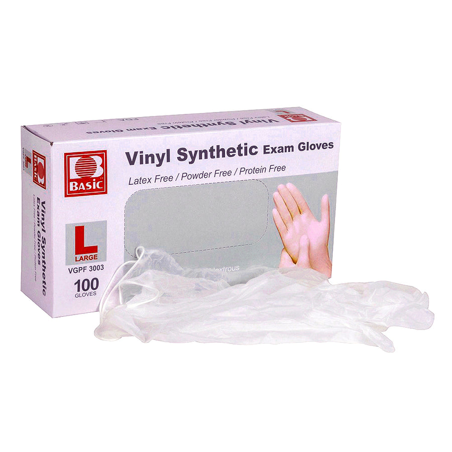 Vinyl Synthetic Exam Gloves (100 gloves)