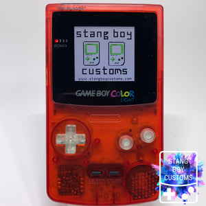 Custom Nintendo Game Boy Color LIGHT (ATOMIC RED)