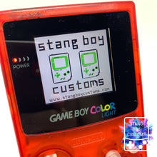 Load image into Gallery viewer, Custom Nintendo Game Boy Color LIGHT (ATOMIC RED)