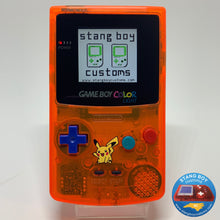 Load image into Gallery viewer, Custom Nintendo Game Boy Color LIGHT (ATOMIC ORANGE)