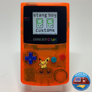 Custom Nintendo Game Boy Color LIGHT (ATOMIC ORANGE)