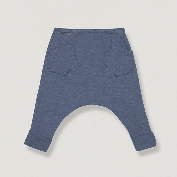 Babybox and Family 1xFamily Baggy Pants aus Baumwolle 12 M hell blau