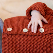 Babybox and Family BabyBox Collection Handmade Strickjacke aus Merinowolle 0-6m senf