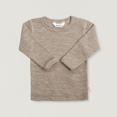 Babybox and Family Joha Longsleeve aus Wolle & Seide sand 68/74