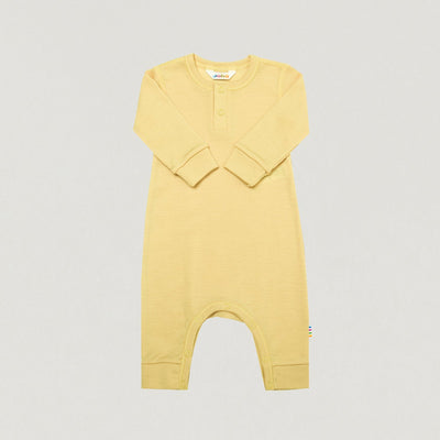 Babybox and Family Joha Pyjama aus Sommerwolle pastellgelb 50