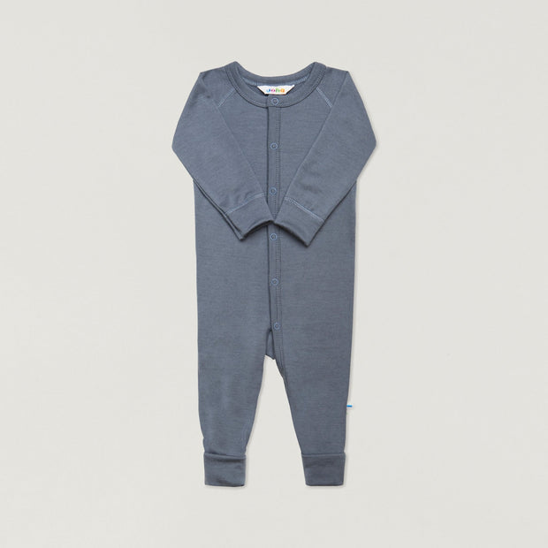 Babybox and Family Joha Pyjama aus Wolle 56/62 blaugrau