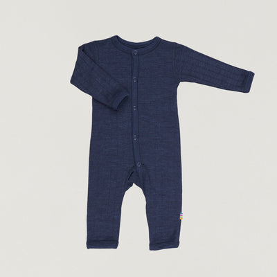 Babybox and Family Joha Pyjama aus Wolle & Seide 50 marine