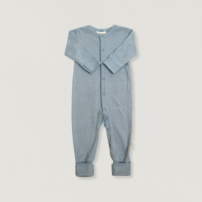Babybox and Family Joha Pyjama aus Wolle & Seide denim 50