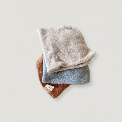 Babybox and Family Konges slojd Waschlappen Set aus BioBaumwolle sand-denim-rost