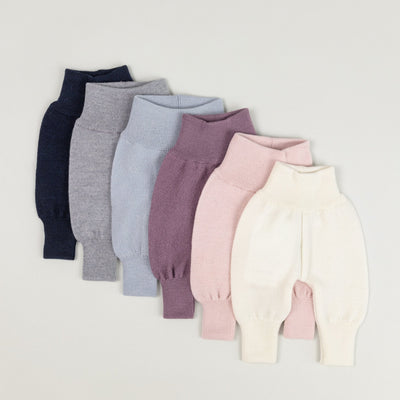 Babybox and Family Mole Bundhose aus Merinowolle 50 hell blau