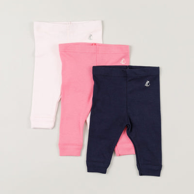 Babybox and Family Petit Bateau Leggings aus Baumwolle 3 M marine
