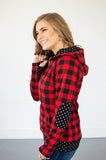 Buffalo Plaid Dot Half Zip