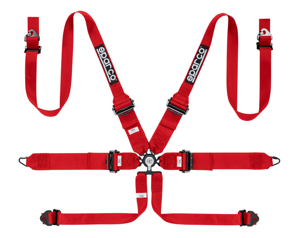 "Sparco 6 Point HANS 3""/2"" Aluminum PD Seat Belt Harness"