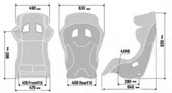 Sparco Pro ADV QRT Bucket Seat