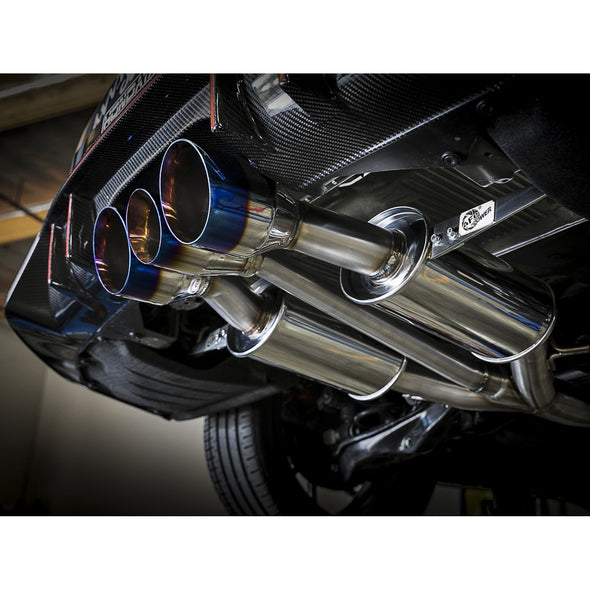 AFE Power 2017+ Civic Type R Takeda 3″ 304 Cat-Back Exhaust w/ Blue Flame Tips