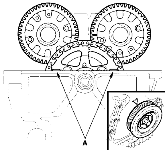 Ballade Sport 00-09 Honda S2000 Adjustable Drive Gear diagram