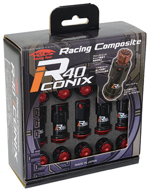 Project Kics R40 Iconix Extended Lug Nuts M12x1.5 Aluminum Cap No Locks