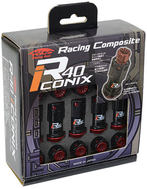 Project Kics R40 Iconix Extended Lug Nuts M12x1.5 Aluminum Cap w/ Locks