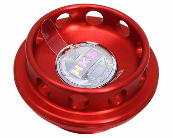 HKS Anodized Red Billet Honda Oil Cap