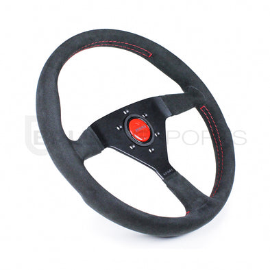 Momo Monte Carlo 350mm Black Alcantara Suede Steering Wheel