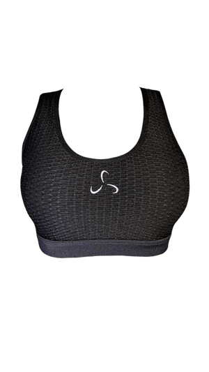 Open Back Jacquard Sports Bra - Women's