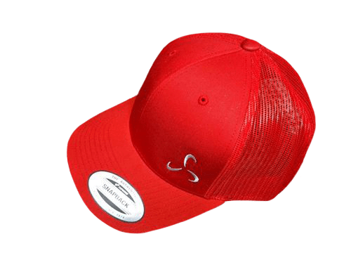 All Red Snapback Side Logo - Valor Fitness Clothing