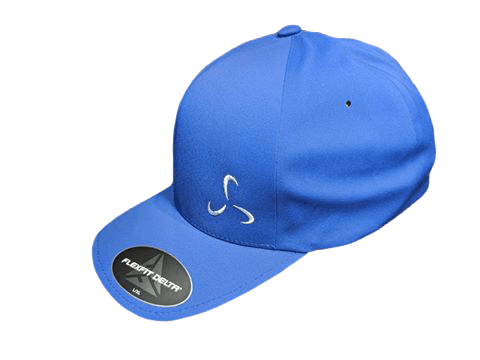 All Blue Flexfit Delta Side Logo - Valor Fitness Clothing
