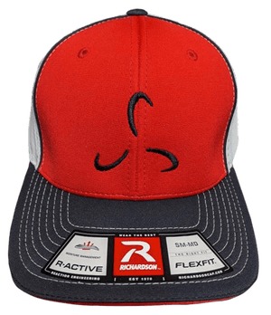 Red/White Flexfit Front Logo - Valor Fitness Clothing