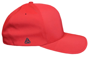 All Red Flexfit Delta Side Logo - Valor Fitness Clothing