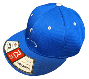 All Blue Logo Flexfit Hat - Valor Fitness Clothing