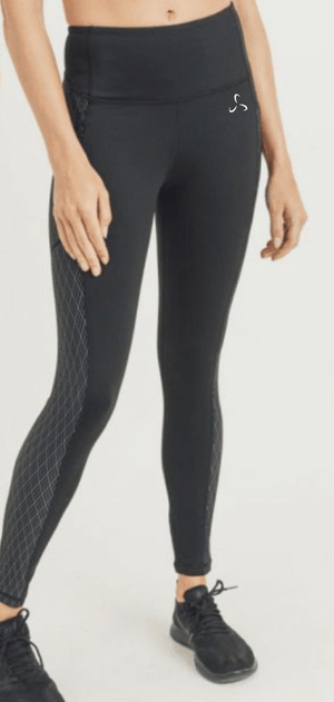 Women's Diamond Jacquard Highwaist Leggings - Plus Size