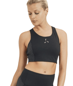 Women's Diamond Jacquard Sports Bra - Plus Size