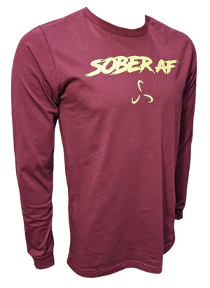Long Sleeve SoberAF Men's Shirt