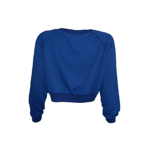 LONG SLEEVE CROP TOP PULLOVER
