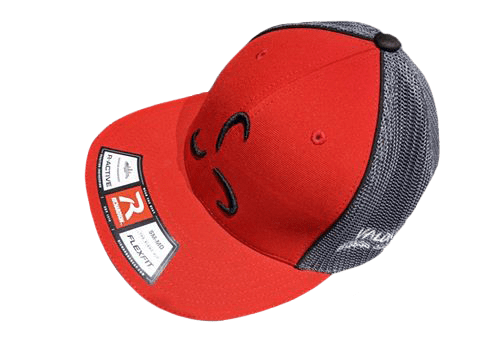 Red/Grey Flexfit Front Logo - Valor Fitness Clothing