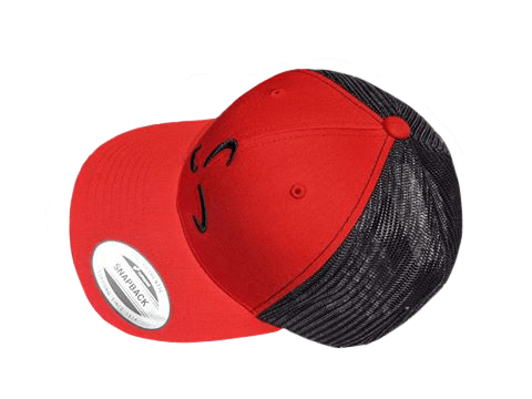 Red/Black Snapback Side Logo - Valor Fitness Clothing
