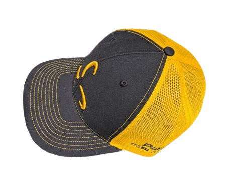 Black/Yellow Snapback Front Logo - Valor Fitness Clothing