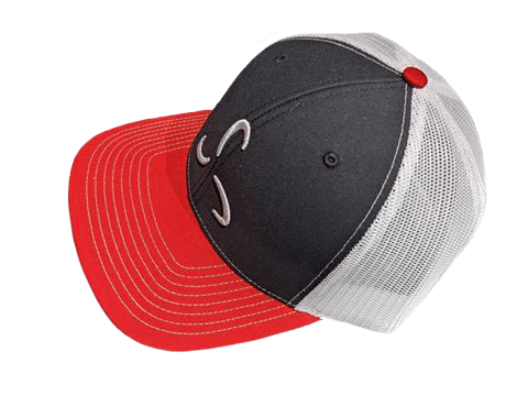 Black/Red/White Snapback Front Logo - Valor Fitness Clothing