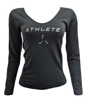 V-Neck Athlete Fleece Long Sleeve