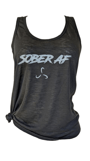 NEW- SOBERAF FLARE BOTTOM TANK TOP - 4 COLOR OPTIONS