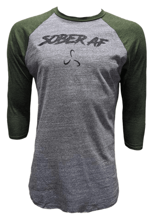 Women's SoberAF Baseball Tee - 4 Color Options