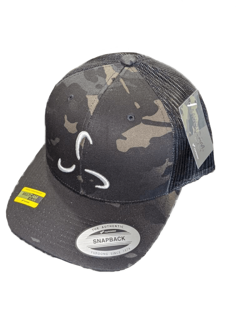 Camo Snapback Front Logo - 3 Color Options - Valor Fitness Clothing