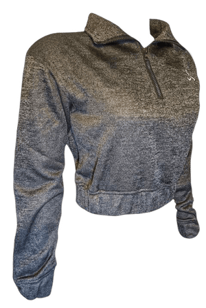 Women's Cropped Zippered Pullover