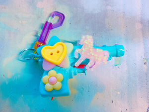 Light Blue Cute Squirt Gun  (Bag Clip)