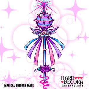 Magical Unicorn Mace Sticker