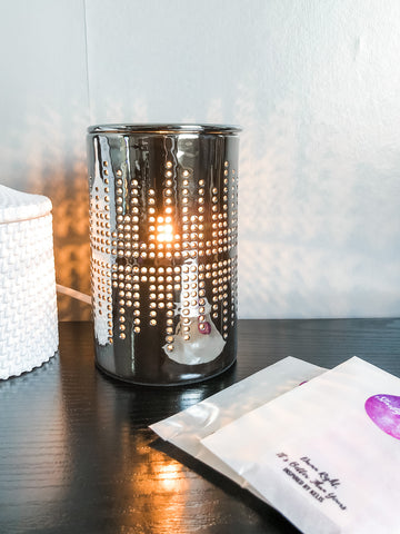 Silver Electric Wax Burner - The Starlight Candle Company
