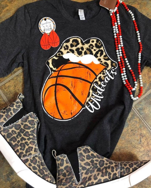 Youth Wildcat basketball tongue shirt