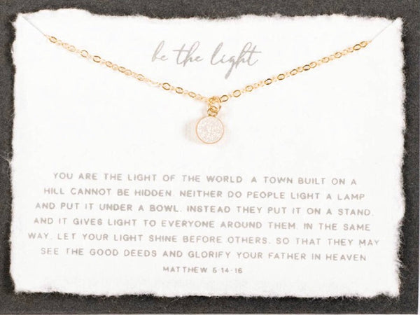 "Be the Light 18"" necklace (Silver)"