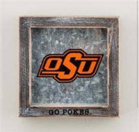 OSU Go Pokes wood and metal sign